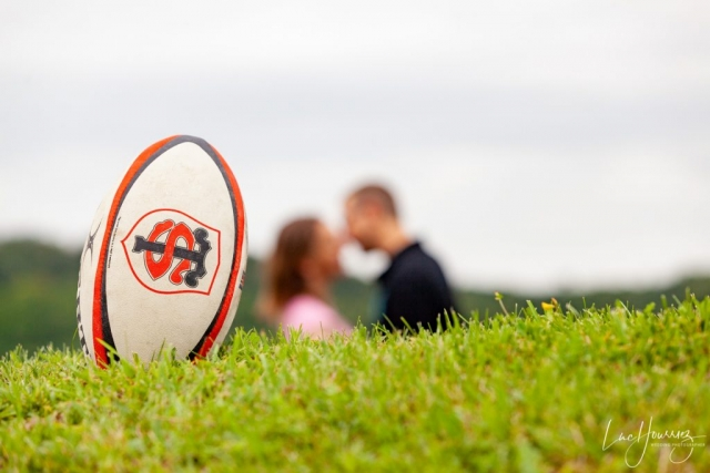 couple passionné par le rugby