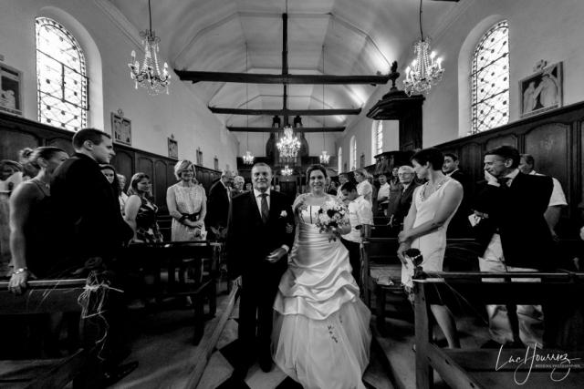 entrée de la mariée dans une eglise