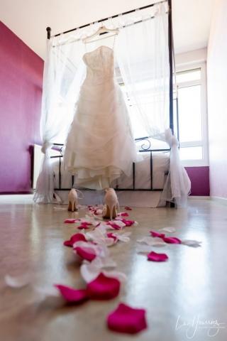 la robe de mariée est prete