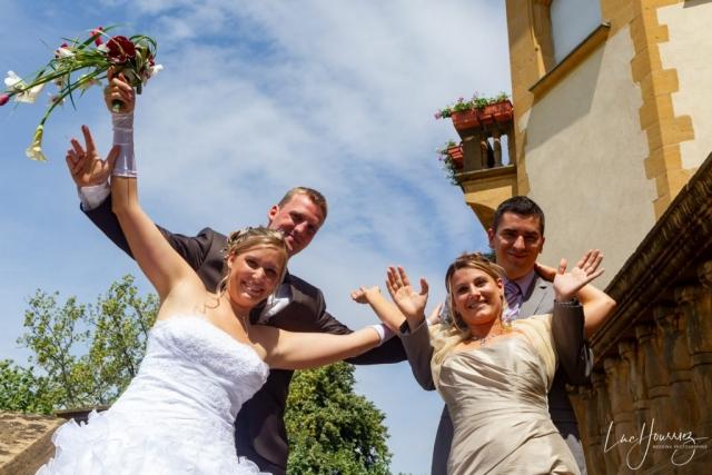 les mariés et leur temoins