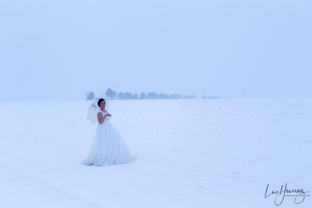 marié dans la neige