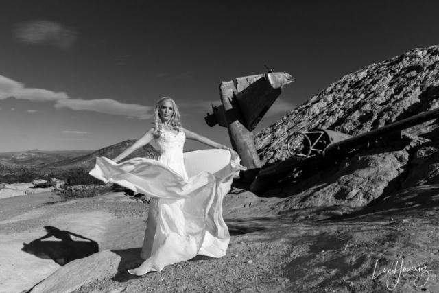 mariée dans le desert du Nevada