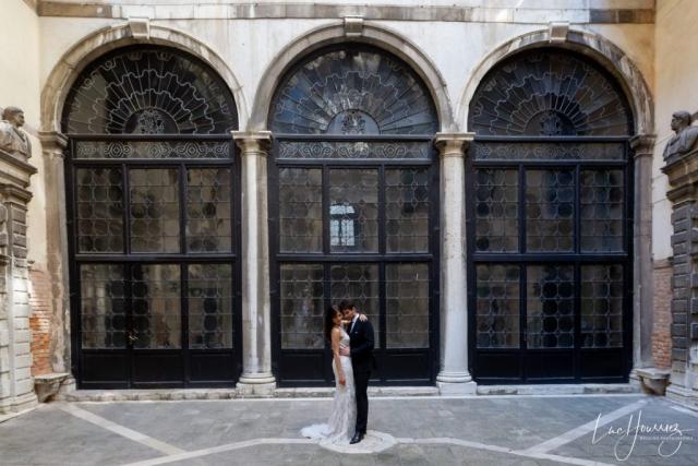 mariés au conservatoire de musique à Venise