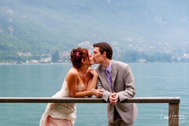 mariés au lac d'annecy