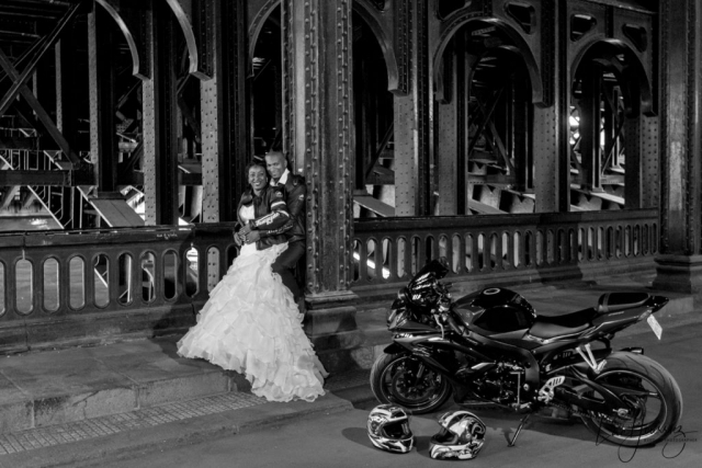 mariés en moto