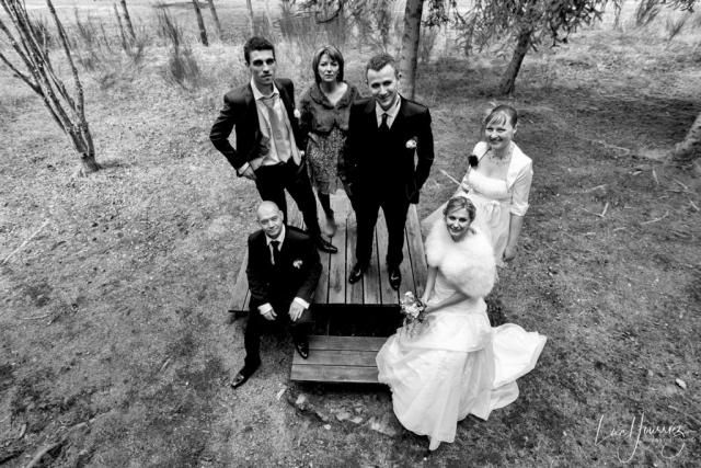 mariés et leurs témoins