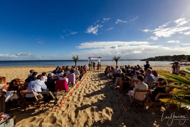 mariage sur la plage au bassin d'arcachon