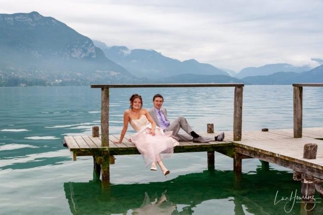 photo de couple de mariage a Annecy