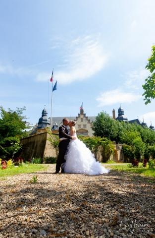photo de couple mariage jardin du gouverneur de metz