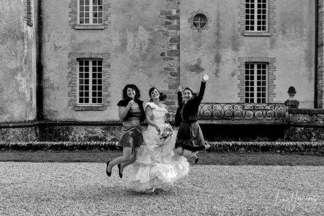 photo de groupe au Château de Bois-le-Roi