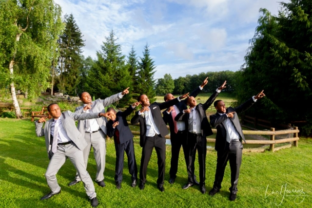 photo groupe mariage originale