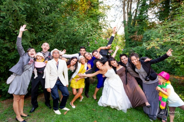 photos de groupe de mariage originale