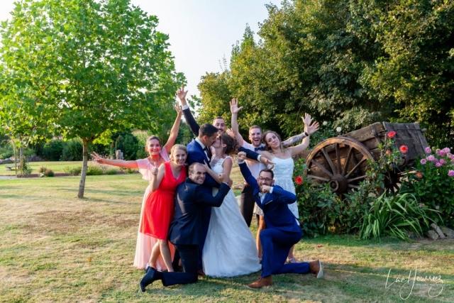 photos de groupe mariage fun