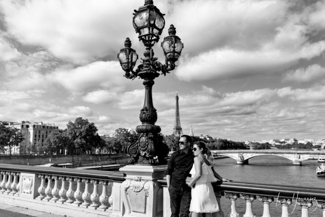 photos de stars sur le pont Alexandre III