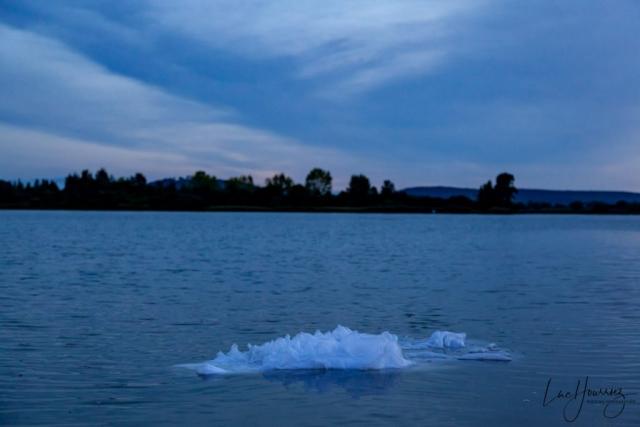 robe de mariée dans l'eau