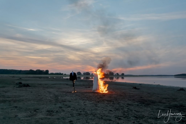 robe de mariée en flamme