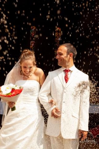 sortie eglise mariage