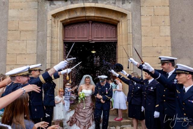sortie eglise mariage armée de l'air