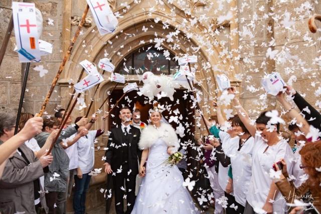 sortie eglise mariage infirmiere