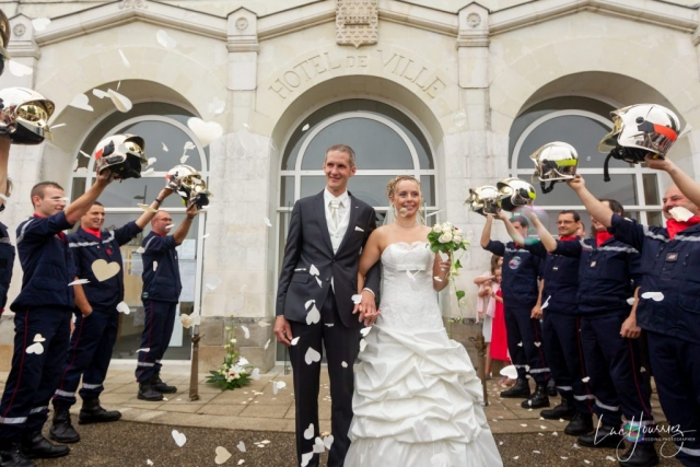 sortie mairie mariage pompier