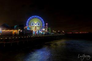 jetée de Santa Monica de nuit