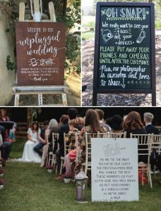 pas de photo pendant le mariage