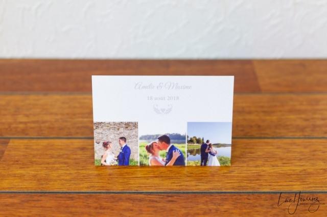 carte de remerciement de mariage