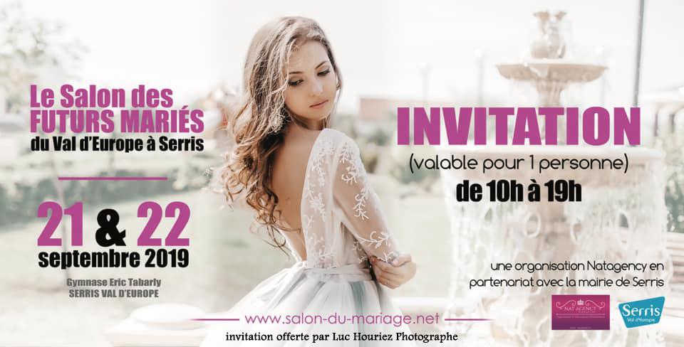 invitation pour le salon des futurs mariés du val d'europe 2019
