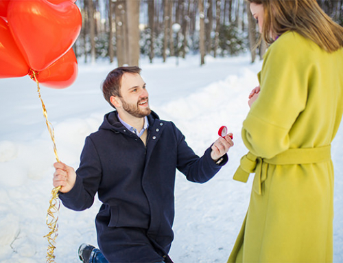 Demande en mariage à Noël