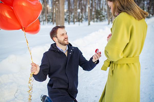 Demande en mariage à Noël Luc Hourriez Photographe Mariage Troyes