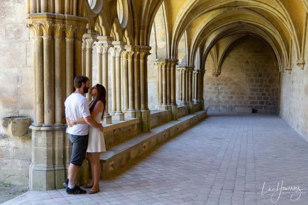 photo de couple à l'abbaye de royaumont Photographe Mariage Troyes